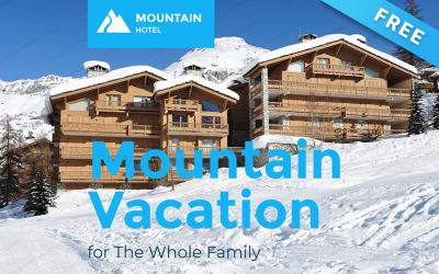 Mountain Hotel - Шаблон информационного бюллетеня для бесплатного зимнего отдыха