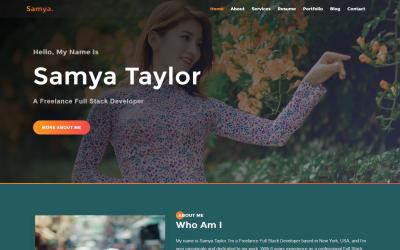 Samya - Personal Portfolio Landing Page Template