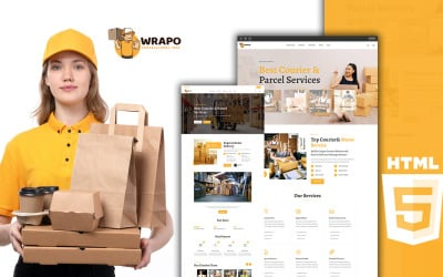 Wrapo Courier Shipping and Logistic Services HTML5 Temaplate