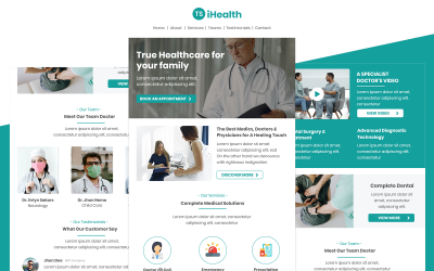iHealth– Multipurpose Healthcare Email Template Responsive Newsletter Template