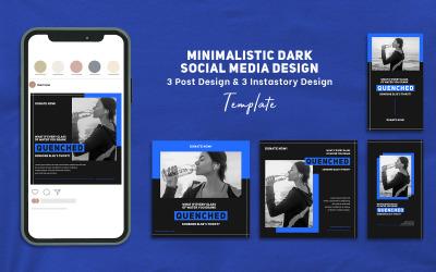 Minimalistic Dark Design Instagram & Instastory Social Media