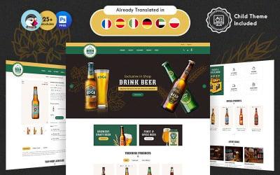 Craft Beer PrestaShop Theme for Online Brewery Store