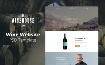 Winehouse - Şarap Web Sitesi Tasarımı PSD Şablonu