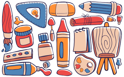 Art Studio - Doodle Vector # 01
