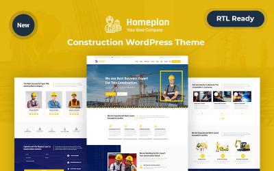 Home plan – Construction WordPress Responsive Theme