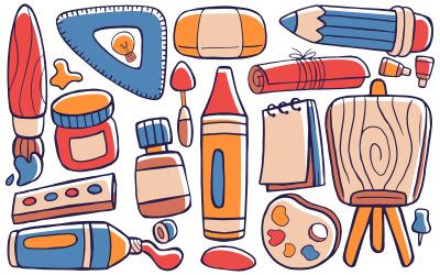 Művészeti stúdió - Doodle Vector # 01