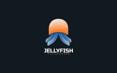 Jellyfish Gradient Colorful Logo Template