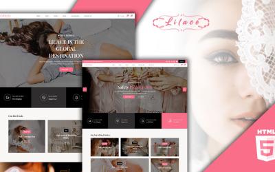 Lilace - HTML-mall för underkläder