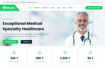 Medic - Health & Medical Clinic Website Template