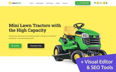 Plantilla de sitio web de comercio electrónico Organic Farm Moto CMS