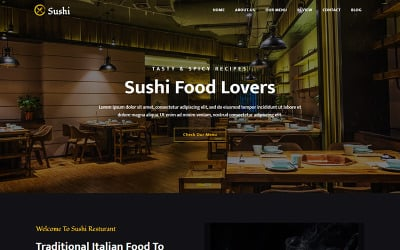 Sushi - Resturant Landing Page Template