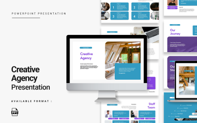 Creative Agency Presentation By Peterdraw PowerPoint Template