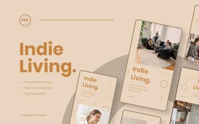 Indie Living Instagram Stories Template