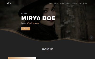 Mirya - Personal Portfolio WordPress Theme