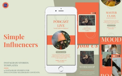 Simple Influencer Instagram Stories Template