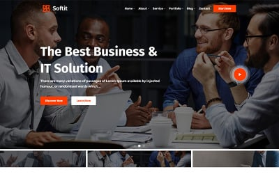 Softit - IT Solution Services and Technology WordPress Theme