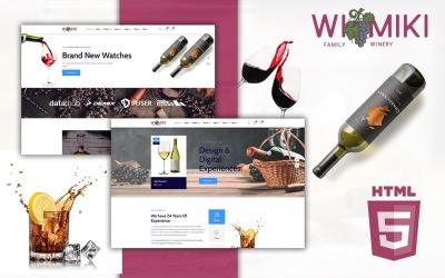 Wimiki E-Commerce Wine Store HTML5 Website-Vorlage