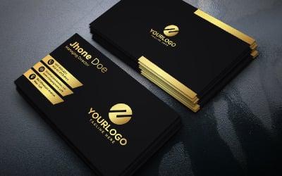 Golden Black Business Card   vol: 01 - Corporate Identity Template