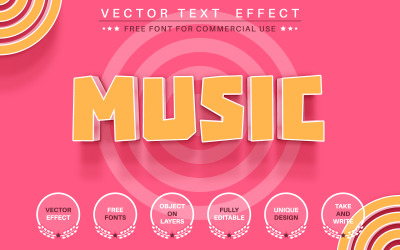 Pink Music - Editable Text Effect, Font Style, Graphics Illustration