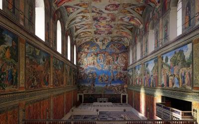 Sistine Chapel Interior Low Poly 3D Model