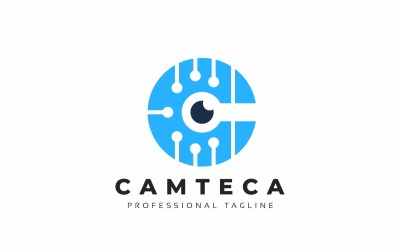 Camera Tech C Letter Logo Template