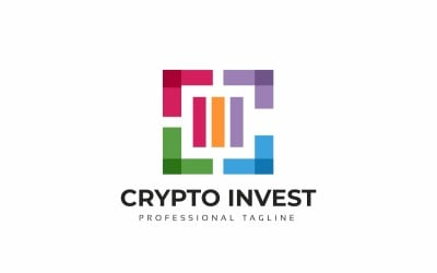 Crypto Invest C Letter Logo Template