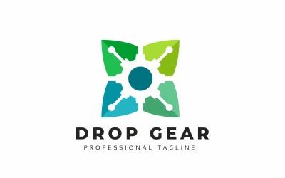 Drop Gear Leaves Logo Template