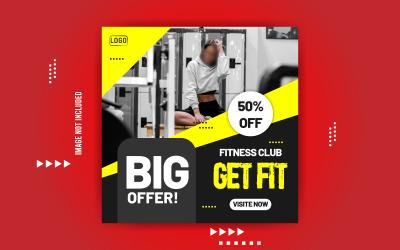 Fitness Club Promotional Social Media Banner