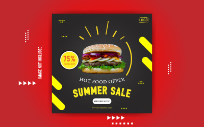 Hot Food Offer Social Media Banner