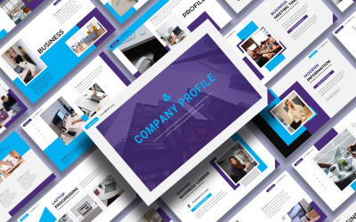 Профіль компанії - Презентація шаблону бізнес-доповіді