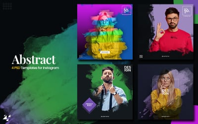 Abstract - 4 Instagram Banner Template for Social Media