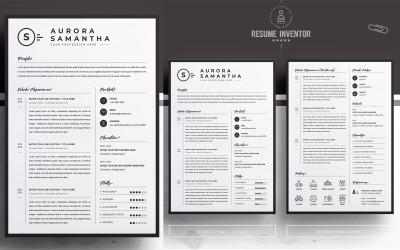 Aurora / CV Template Printable Resume Templates