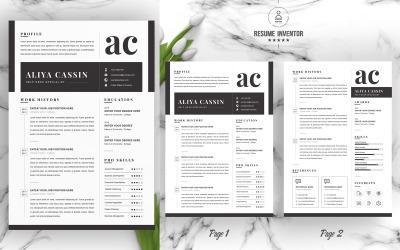 Cassin /  CV Template Printable Resume Templates