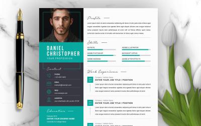 Daniel / CV Template Printable Resume Templates