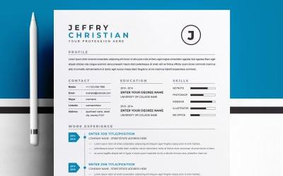 Jeffry / Printable Resume Templates