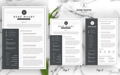 Rene /  CV Template Printable Resume Templates
