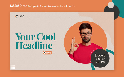 Sabar - PSD Banner Template for Youtube and Social Media