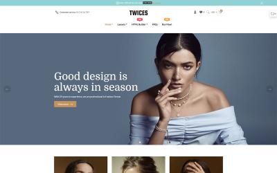 Tweemaal - Gratis Multifunctioneel Sectie Shopify-thema