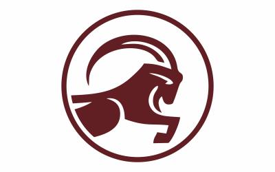 Circular Goat Abstract  Logo Template