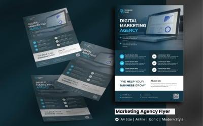 Digital Marketing Agency Flyer Corporate Identity Template