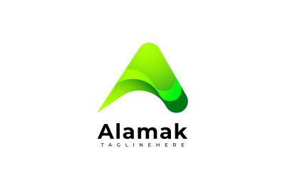Gradient a - Green Logo Template