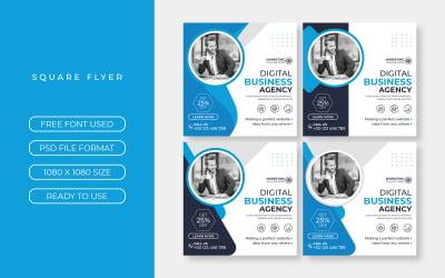 Business Social Media Post Template Set