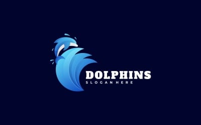 Dolphins Gradient Colorful Logo
