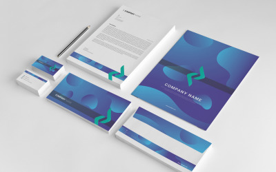 Blaue Corporate Identity-Vorlage