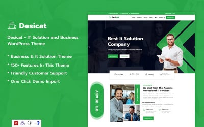 Desicat -  IT Solution And Business Services WordPress Theme