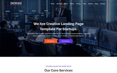 Increase - SEO & Digital Marketing Landing Page Template