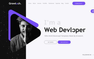 Modello di pagina di destinazione del portfolio personale Growtech