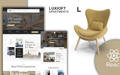 Modelo de site Luxloft - Modern Apartment React