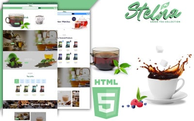 Stelna Tea Salon and Herbs Shop HTML5 Template