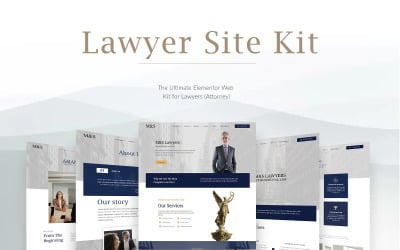 The Ultimate Elementor Web Kit for Lawyers (Attorney)  - 15 high quality templates Elementor Kit